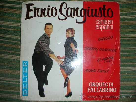 Discos de vinilo: ENNIO SANGIUSTO EP - SPEEDY GONZALES - BELTER 1962 DISCO MUY NUEVO (5). - Foto 4 - 51015654