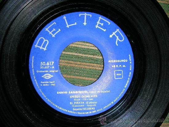 Discos de vinilo: ENNIO SANGIUSTO EP - SPEEDY GONZALES - BELTER 1962 DISCO MUY NUEVO (5). - Foto 2 - 51015654