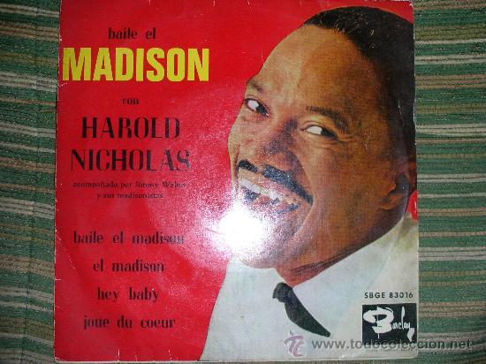 Discos de vinilo: HAROLD NICHOLAS EP - BAILE EL MADISON - ORIGINAL ESPAÑA - BARCLAY 1962 MONO. - Foto 3 - 28721499