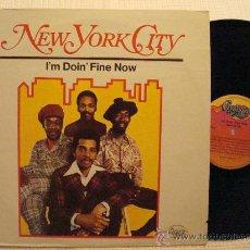 Discos de vinilo: NEW YORK CITY - '' I'M DOIN' FINE NOW '' LP ORIGINAL USA 1973. Lote 28641504