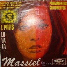 Discos de vinilo: MASSIEL - LA LA LA ( SP EDITADO EN ALEMANIA). Lote 28651408