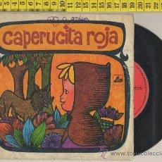 Vinyl-Schallplatten - DISCO DE VINILO 45 RPM CAPERUCITA ROJA CUENTO INFANTIL DIBUJO MUSICA CANCION 1968 - 28675412