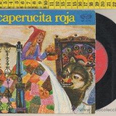 Vinyl records - DISCO DE VINILO 45 RPM CAPERUCITA ROJA TEATRO INFANTIL SAMANIEGO CUENTO DIBUJO MUSICA CANCION 1970 - 28675571