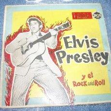 Discos de vinilo: ELVIS PRESLEY Y EL ROCK AND ROLL: ZAPATOS AZULES DE GAMUZA (BLUE SUEDE SHOES), TUTTI FRUTTI + REGALO. Lote 28596827