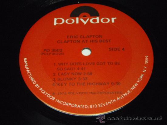 Discos de vinilo: ERIC CLAPTON ERIC CLAPTON / AT HIS BEST DOBLE LP33 NEW YORK-USA 1972 POLYDOR - Foto 2 - 28716774