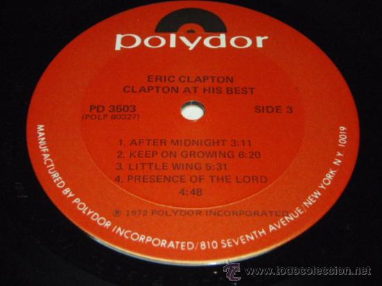 Discos de vinilo: ERIC CLAPTON ERIC CLAPTON / AT HIS BEST DOBLE LP33 NEW YORK-USA 1972 POLYDOR - Foto 3 - 28716774