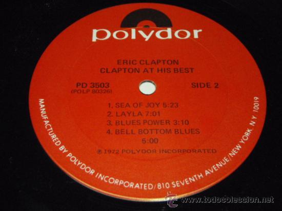 Discos de vinilo: ERIC CLAPTON ERIC CLAPTON / AT HIS BEST DOBLE LP33 NEW YORK-USA 1972 POLYDOR - Foto 4 - 28716774