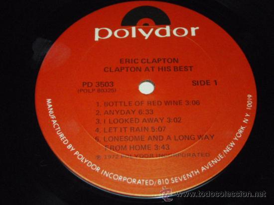 Discos de vinilo: ERIC CLAPTON ERIC CLAPTON / AT HIS BEST DOBLE LP33 NEW YORK-USA 1972 POLYDOR - Foto 5 - 28716774