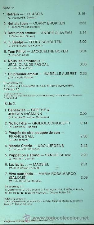 Discos de vinilo: EUROVISION GALA LP DOBLE (2 DISCOS) EDITA DO EN ESPAÑA AÑO 1981 - Foto 2 - 28722693