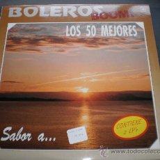 """Discos de vinilo: BOLEROS BOOM""""LOS 50 MEJORES""""DOBLE LP.AÑO 1990.. Lote 28723032"""