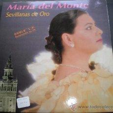 """Discos de vinilo: MARIA DEL MONTE""""SEVILLANAS DE ORO"""".DOBLE LP.AÑO 1992.. Lote 39971683"""