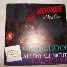 Discos de vinilo: GIRLSCHOOL /ALL DAY ALL NIGHT /GWR RECORDS 1986. Lote 28726342
