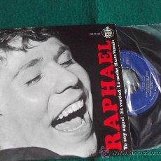 Discos de vinilo: RAPHAEL-YO SOY AQUEL-ES VERDAD-LA NOCHE-HASTA VENECIA-HISPAVOX-1966-45RPM.. Lote 28791316