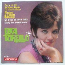 Discos de vinilo: LITA TORELLO CHICA YE-YE ESPAÑOLA EP 1965 - ISABELLA IANNETTI VERGARA 347-XC- FESTIVAL MEDITERRANEO. Lote 28850311
