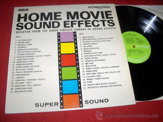 HOME MOVIE SOUND EFFECTS LP 1970 UK Library effects EDICION ESPAÑOLA