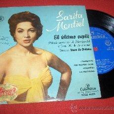 Discos de vinilo: SARITA MONTIEL CLAVELITOS/ VALENCIA +2 EP 195? COLUMBIA . Lote 28745031