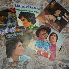 Discos de vinilo: DANNY DANIEL LOTE 5 SINGLES POLYDOR EMI COLUMBIA. Lote 28749852