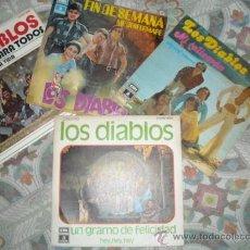 Discos de vinilo: LOS DIABLOS LOTE 4 SINGLES EMI ODEON. Lote 237864200