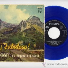 Discos de vinilo: RAY CONNIFF Y SU ORQUESTA. EP 45 RPM. BESAME MUCHO+3, VINILO DE COLOR AZUL. PHILIPS 1960. Lote 28765273