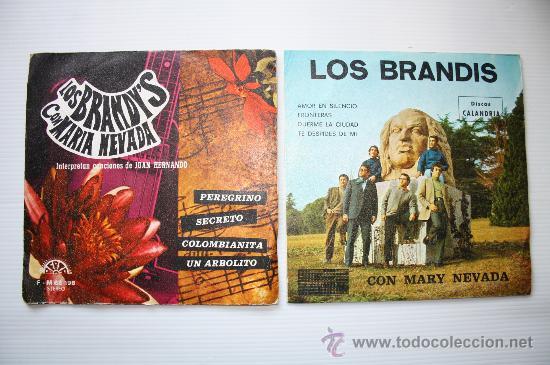 LOS BRANDIS - AMOR EN SILENCIO - PEREGRINO - 2 EPS PROMO CALANDRIA - BERTA 1971- 74 VER FOTOS RAROS (Música - Discos - Singles Vinilo - Grupos Españoles de los 70 y 80)