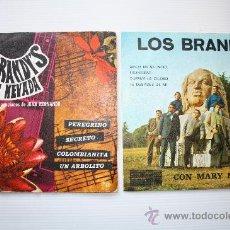 Discos de vinilo: LOS BRANDIS - AMOR EN SILENCIO - PEREGRINO - 2 EPS PROMO CALANDRIA - BERTA 1971- 74 VER FOTOS RAROS. Lote 28769292