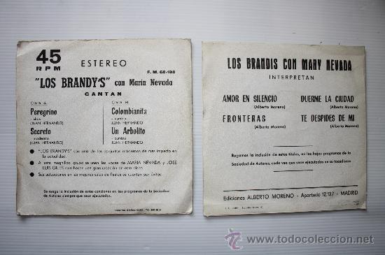 Discos de vinilo: Los Brandis - Amor en silencio - Peregrino - 2 EPS promo Calandria - Berta 1971- 74 ver fotos raros - Foto 2 - 28769292