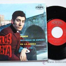 Discos de vinilo: CARLOS AMAYA - DONDE - EP ACROPOL 1968. NUEVO A ESTRENAR. MUY RARO. Lote 29307843