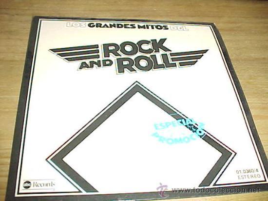 LOS GRANDES MITOS DEL ROCK AND ROLL. EP. ESPECIAL PROMOCION. ABC RECORDS 1977. VINILO IMPECABLE (Música - Discos de Vinilo - EPs - Pop - Rock Extranjero de los 70)