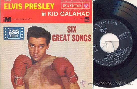 ELVIS PRESLEY - KID GALAHAD - EP ESPAÑOL DE VINILO - 1ª EDICION (Música - Discos de Vinilo - EPs - Rock & Roll)