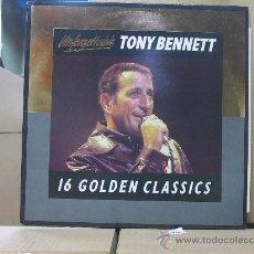 Discos de vinilo: TONY BENNETT - 16 GOLDEN CLASSICS - U.K. EDITION - 1986 CASTLE COMMUNICATIONS. Lote 28779348