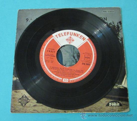 Discos de vinilo: PIOVE - DOMENICO MODUGNO. 9º FESTIVAL DE LA CANCIÓN DE SAN REMO 1959 - Foto 3 - 28781298