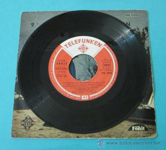 Discos de vinilo: PIOVE - DOMENICO MODUGNO. 9º FESTIVAL DE LA CANCIÓN DE SAN REMO 1959 - Foto 4 - 28781298