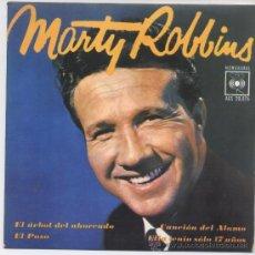 Discos de vinilo: MARTY ROBBINS,EL ARBOL DEL AHORCADO DEL 63. Lote 28791798
