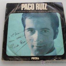Discos de vinilo: PACO RUIZ - COMO TANTAS VIDAS + 3 EP 1961 FIRMADO POR EL ARTISTA. Lote 28802590