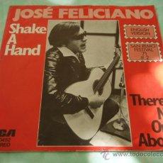 Discos de vinilo: SAN REMO FESTIVAL '71 JOSE FELICIANO ( SHAKE A HAND - THERE'S NO ONE ABOUT ) GERMANY SINGLE45 . Lote 28832630