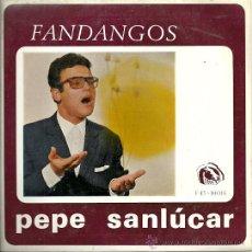 Discos de vinilo: PEPE SANLUCAR EP SELLO FIDIAS AÑO 1966.. Lote 28838033