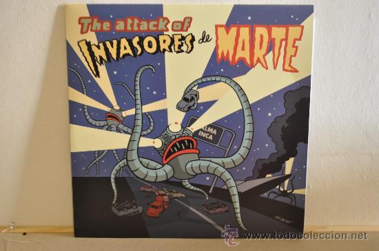 INVASORES DE MARTE - THE ATTAK OF... ( PORTADA COMIC MAX ) SENSACIONAL GARAGE-SIXTIE DESDE MALLORCA (Música - Discos - LP Vinilo - Grupos Españoles de los 90 a la actualidad)
