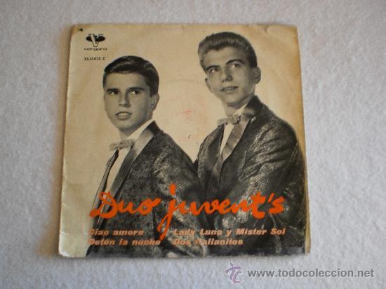 DUO JUVENT'S - CIAO AMORE + 3 EP 1963 (Música - Discos de Vinilo - EPs - Grupos Españoles 50 y 60)