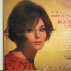 Discos de vinilo: PAQUITA RICO. Lote 28847064