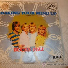 Discos de vinilo: DISCO SINGLE - GANADOR DE EUROVISION 1981, BUCKS FIZZ, MAKING YOUR MIND UP. AÑO 1981.. Lote 28863567