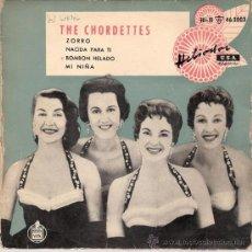 Discos de vinilo: THE CHORDETTES - LOLLIPOP + 3 (EP DE 4 CANCIONES) HISPAVOX 1959 - VG++/VG++. Lote 28871021