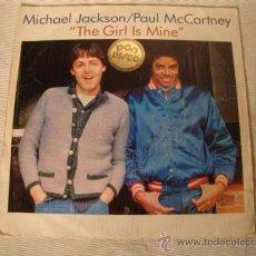 Discos de vinilo: DISCO SINGLE - MICHAEL JACKSON / PAUL MCCARTNEY, THE GIRL IS MINE, AÑO 1982.. Lote 28872067