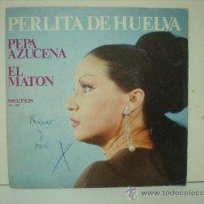 Discos de vinilo: PERLITA DE HUELVA. Lote 28875158