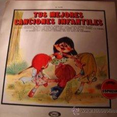 Discos de vinilo: DISCO LP -TUS MEJORES CANCIONES INFANTILES, AÑO 1969.. Lote 28885192