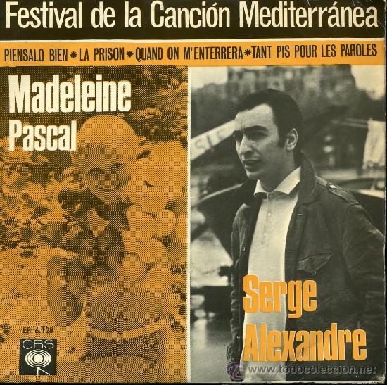 JOSÉ MARÍA PLANES / JEAN DANIEL / MADELEINE PASCAL / SERGE ALEXANDRE - EP 1966 (Música - Discos de Vinilo - EPs - Otros Festivales de la Canción)
