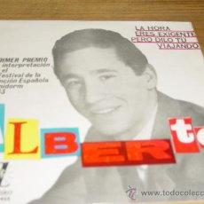 Discos de vinilo: ALBERTO. LA HORA. EP. PRIMER PREMIO V FESTIVAL CANCION ESPAÑOLA BENIDORM 1963. ZAFIRO. Lote 28920015