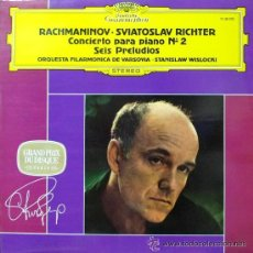 Dischi in vinile: SVIATOSLAV RICHTER-SERGEI RACHMANINOFF - CONCIERTO PARA PIANO Nº 2-STANISLAV WISLOCKI-6 PRELUDIOS-. Lote 28926353