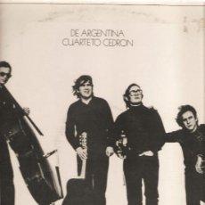 Discos de vinilo: LP CUARTETO CEDRON - DE ANGENTINA (JUAN CEDRON, RAUL GONZALEZ TUÑON, JUAN GELMAN ) . Lote 28959147