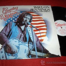 Disques de vinyle: WAYLON JENNINGS THERE GOES MY EVERYTHING LP COLORADO ALEMANIA. Lote 124722396