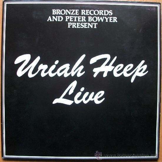URIAH HEEP - LIVE - DISCO DOBLE PORTADA DOBLE - (Música - Discos - LP Vinilo - Pop - Rock - Extranjero de los 70)